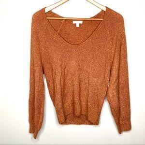 Abound Amber V Neck Popcorn Knit Sweater 4/$25
